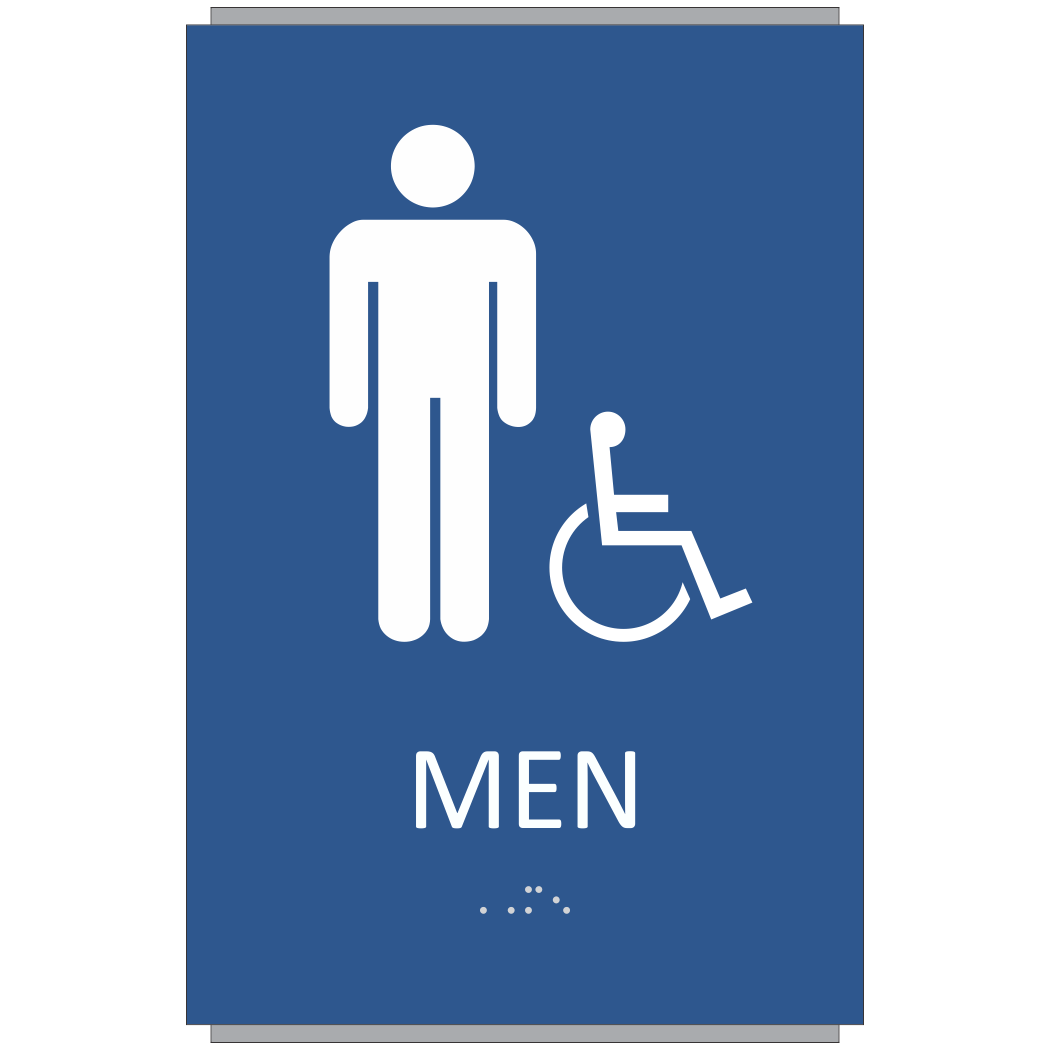 ADA Braille Men Restroom Sign