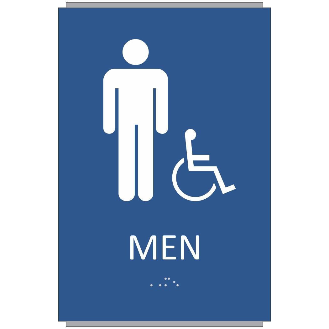 ada braille men restroom sign sign design associates inc
