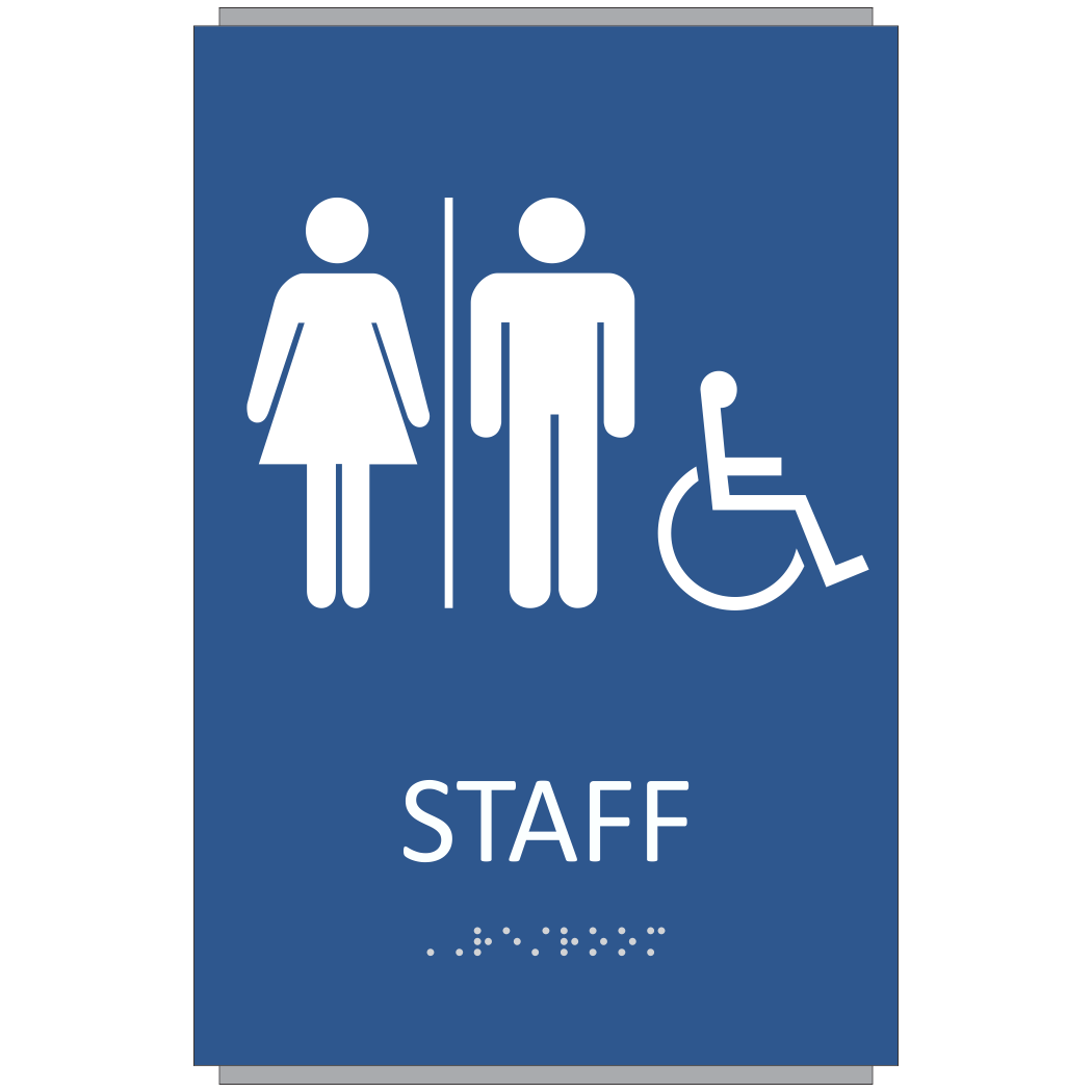 ADA Braille Staff Restroom Sign