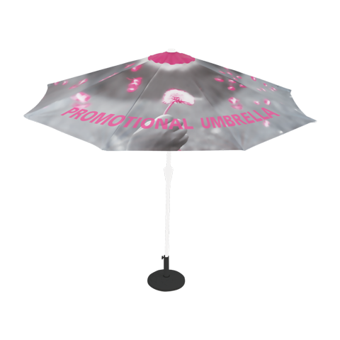 Round Promotional Umbrella (Optional Custom Graphic Kits)