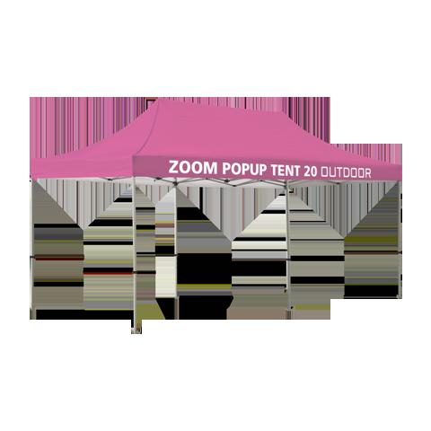 20ft popup tent frame optional custom graphic kits