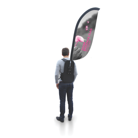 Zoom Backpack Flag (Feather)