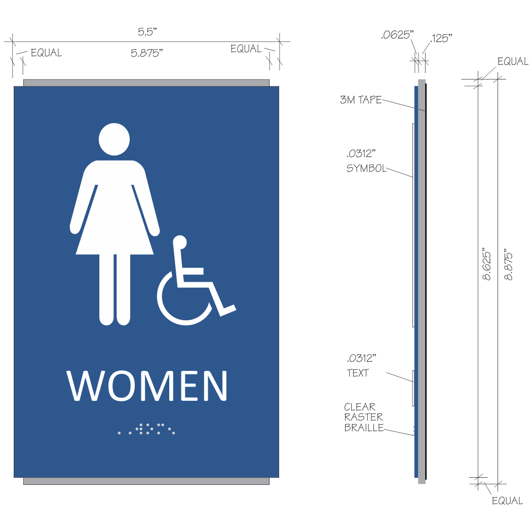 Braille Unisex Restroom Sign With Pictograms Free PDF Oukasinfo - Ada unisex bathroom sign