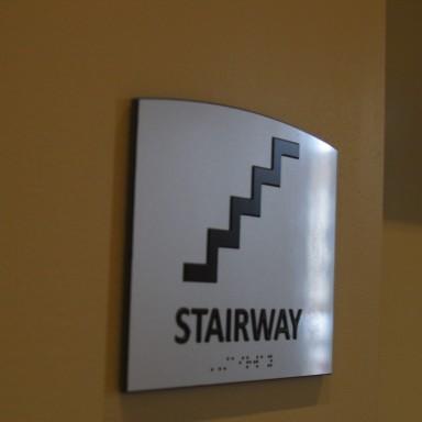 ADA Braille Stairway Sign