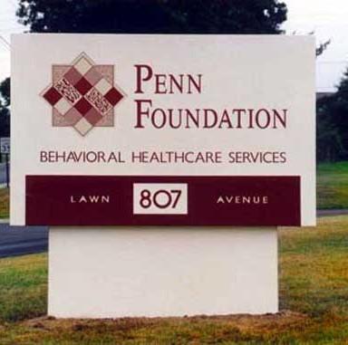 Penn Foundation Main ID Sign