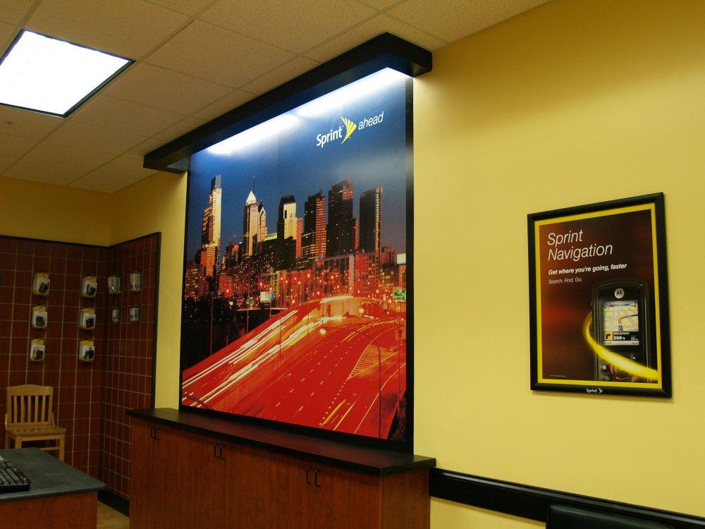 Wall mural large format printing sign design associates for Digital mural printing