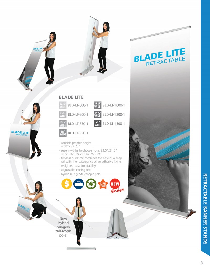 Blade Lite Retractable Banner Stands