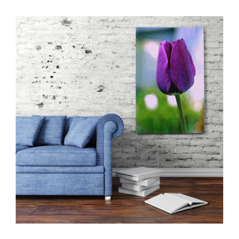 Neon Cloud Canvas Print