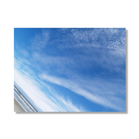Sky and Beach Canvas Print