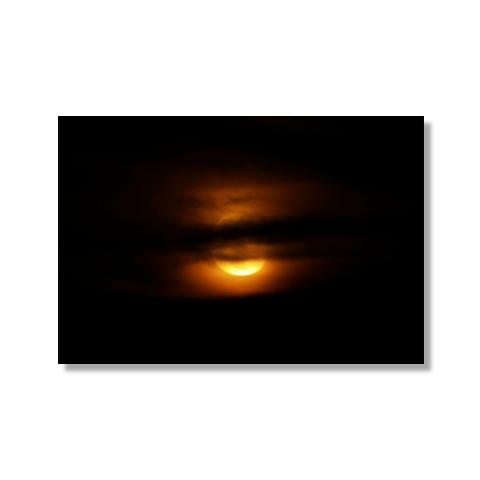 Moon Over Atlantic Canvas Print