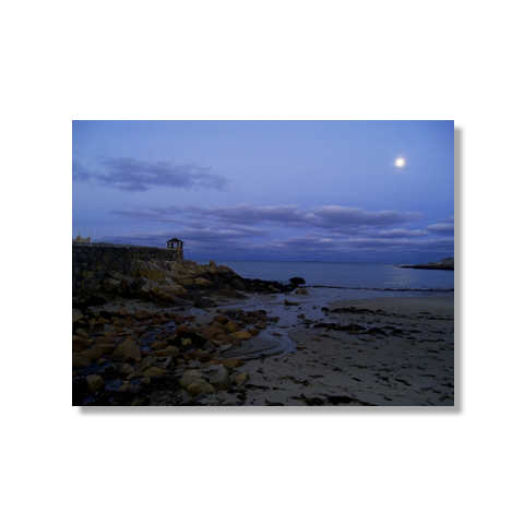 Moon Over Rockport Canvas Print