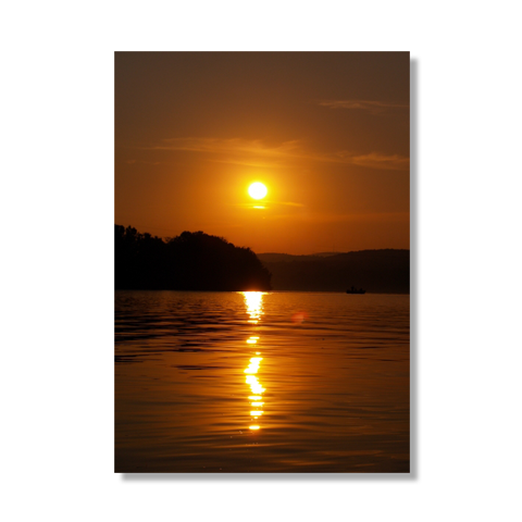 Sunset On The Lake II Canvas Print